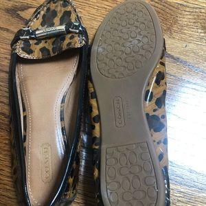 Leopard print slip on